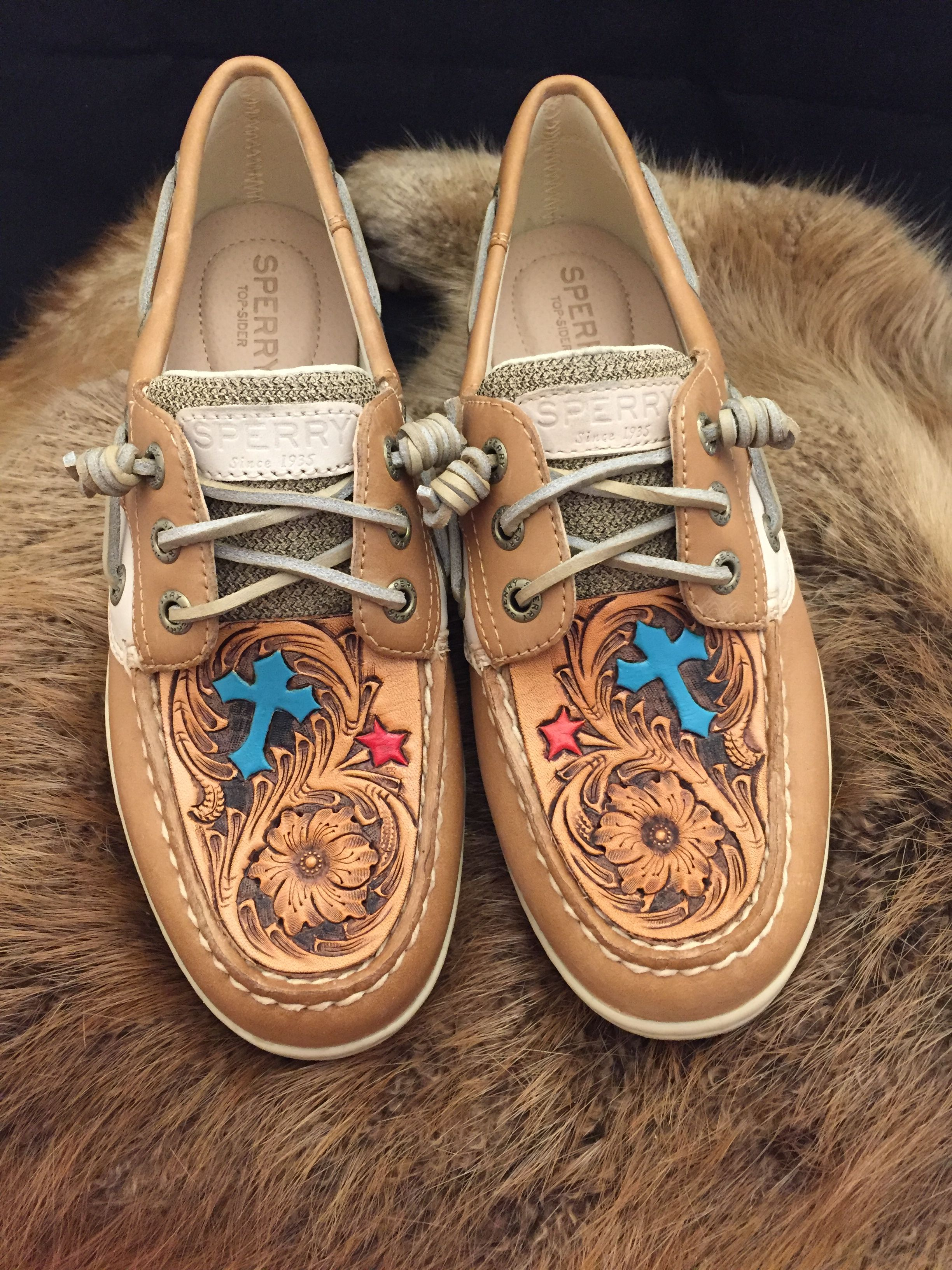 28ad92c759 Hand Tooled Sperrys Available at Martinez Custom Leather or visit our  Facebook page  martinezcustomleathergoods