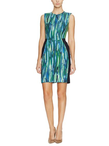 Graphic Colorblock Sheath Dress by O'2nd at Gilt