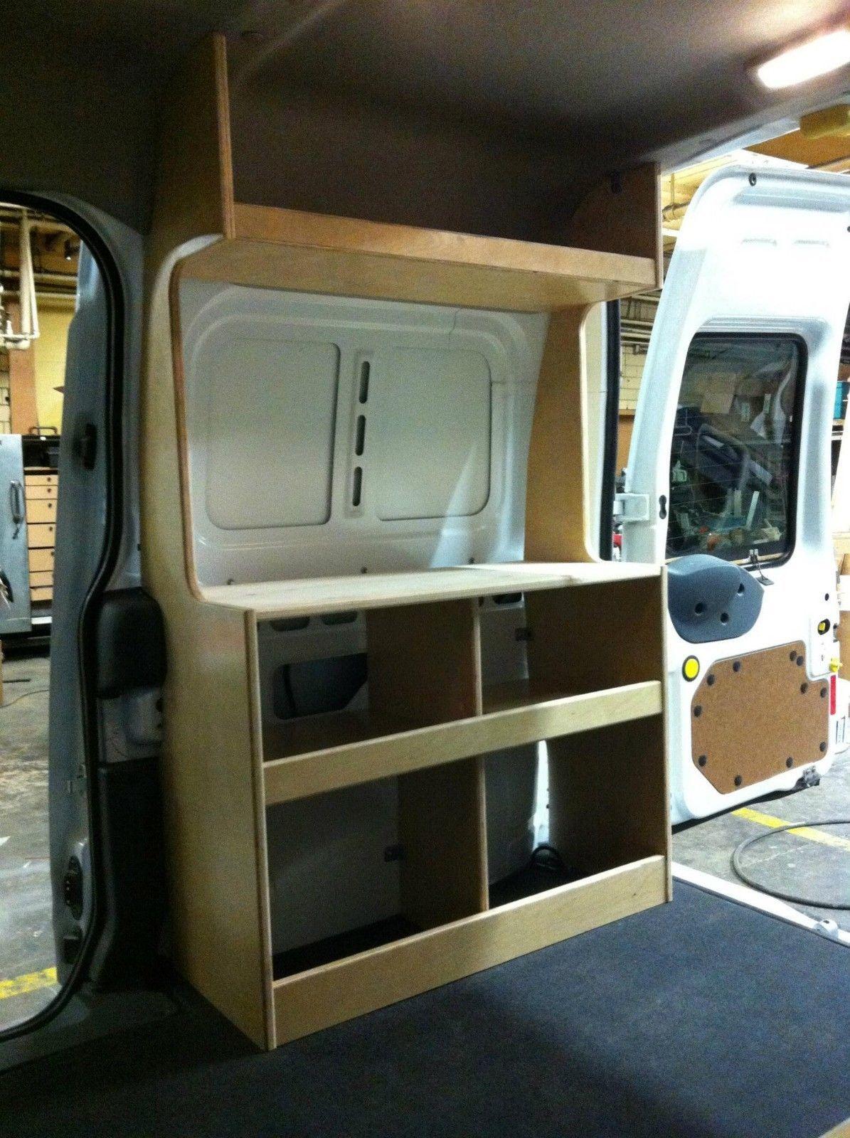 Ford transit connect camper pkg diy campervan van cabinets campers