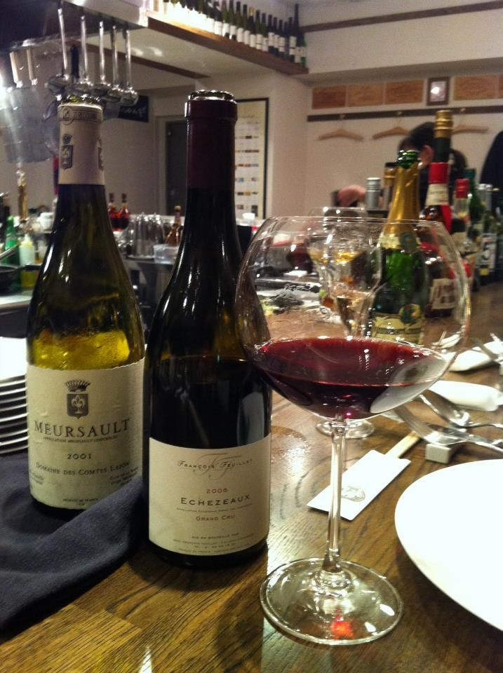 Meursault 2001 &  Echezeaux 2006.  photo-wata  Great wine