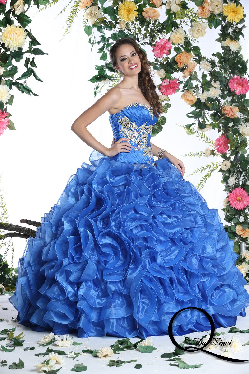 Park Art|My WordPress Blog_Royal Blue Quinceanera Dresses With Gold