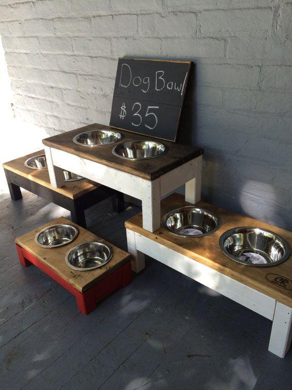 Rustic Dog bowl by ClintonRustics on Etsy