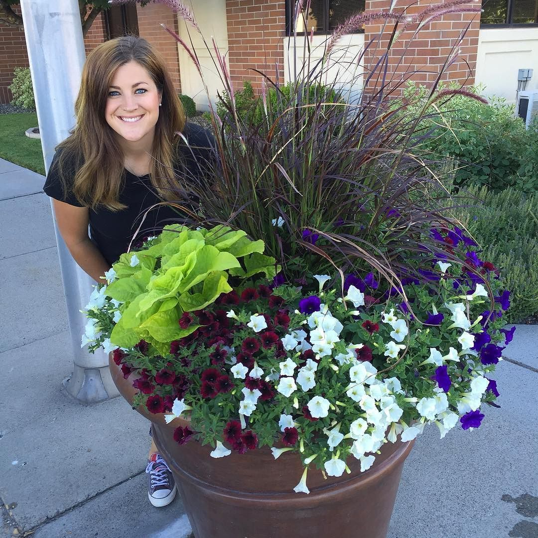 """Laura with """"Garden Answer"""" Out watering our city's"""