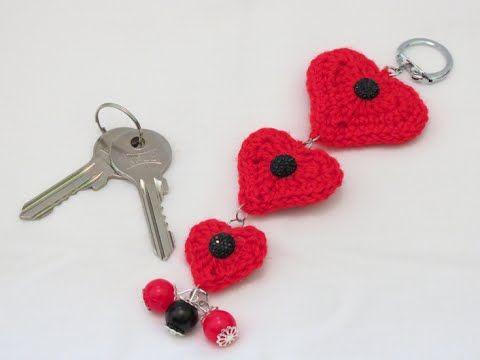 crochet heart applique | كروشيه قلب - YouTube