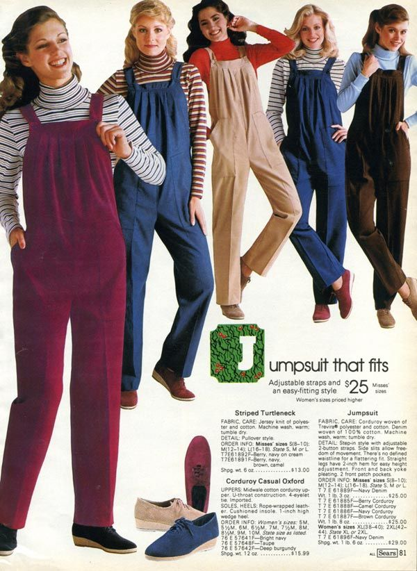 Women's Jumpsuits from a 1982 catalog #vintage #fashion #1980s ...