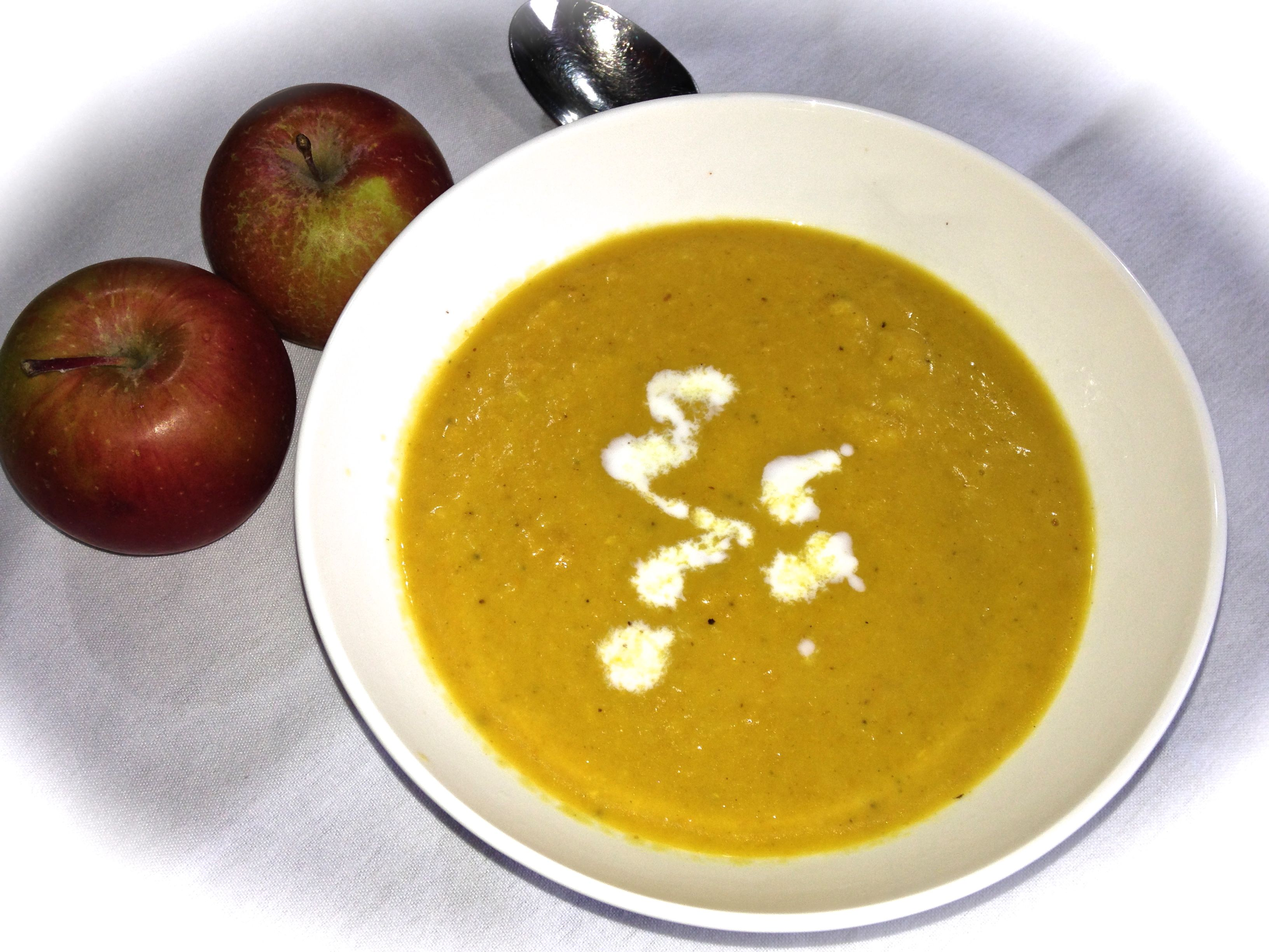 Cream of Butternut Squash Soup ~ This soup is dairy-free yet creamy, velvety, rich in flavour and healthy…oh yes and super easy to make. The kids love it too!