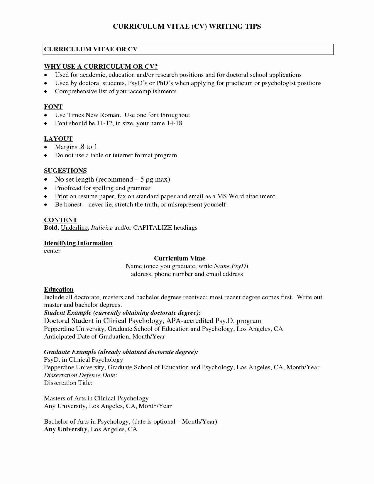 Entry Level Psychology Resume Inspirational Sample Resume