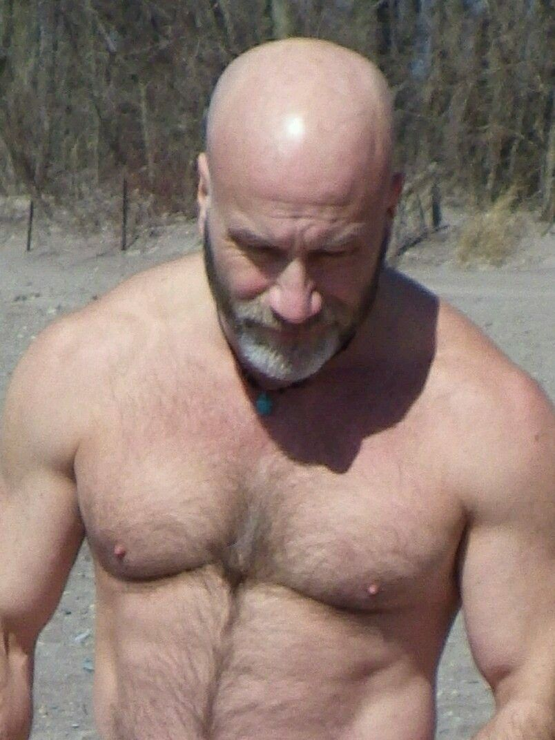 Pin By Mario On Bald And Gorgeous  Mature Men, Hairy Men -4636