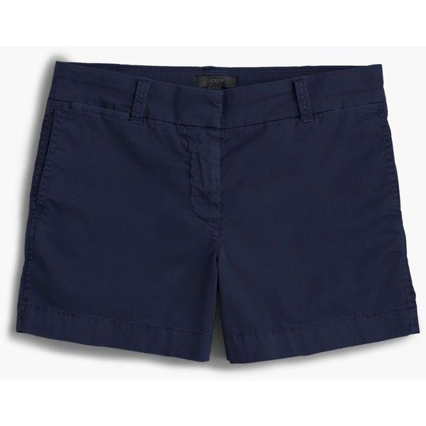 """J.Crew 4"""" Stretch Chino Short ($47) ❤ liked on Polyvore featuring shorts, short shorts, tailored shorts, summer shorts, short chino shorts and j crew shorts"""