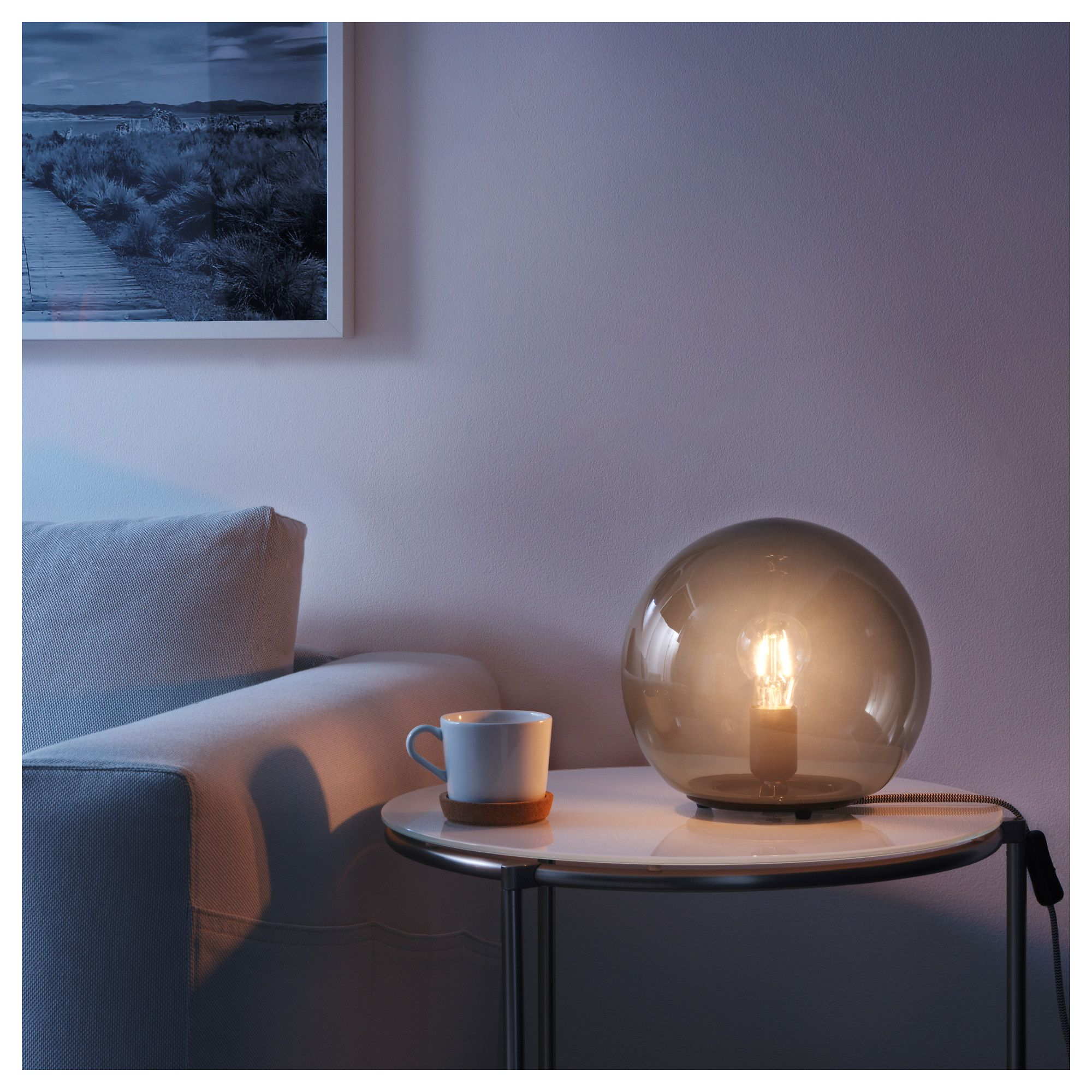 Fado Grey Table Lamp 25 Cm Ikea Lamps Living Room Table Top Lamps Grey Table Lamps