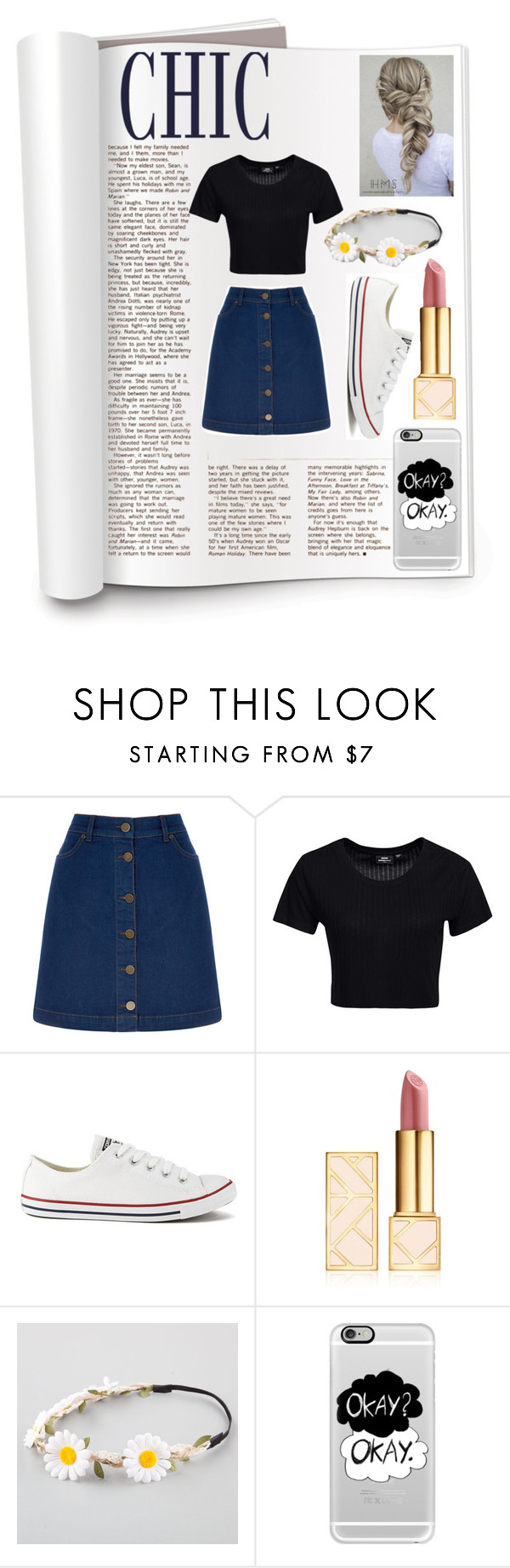 """""""Untitled #70"""" by holli-101 ❤ liked on Polyvore featuring Oasis, Dr. Denim, Converse, Tory Burch, Full Tilt and Casetify"""