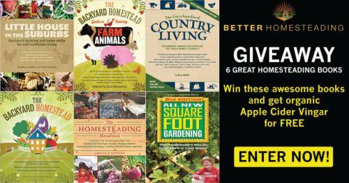 Better Homesteading 6 Book Giveaway {US CA UK} ENDS 4/5/2017