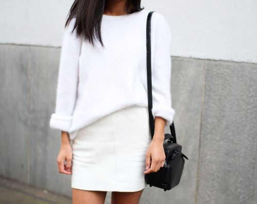 I need to find myself a white on white outfit.