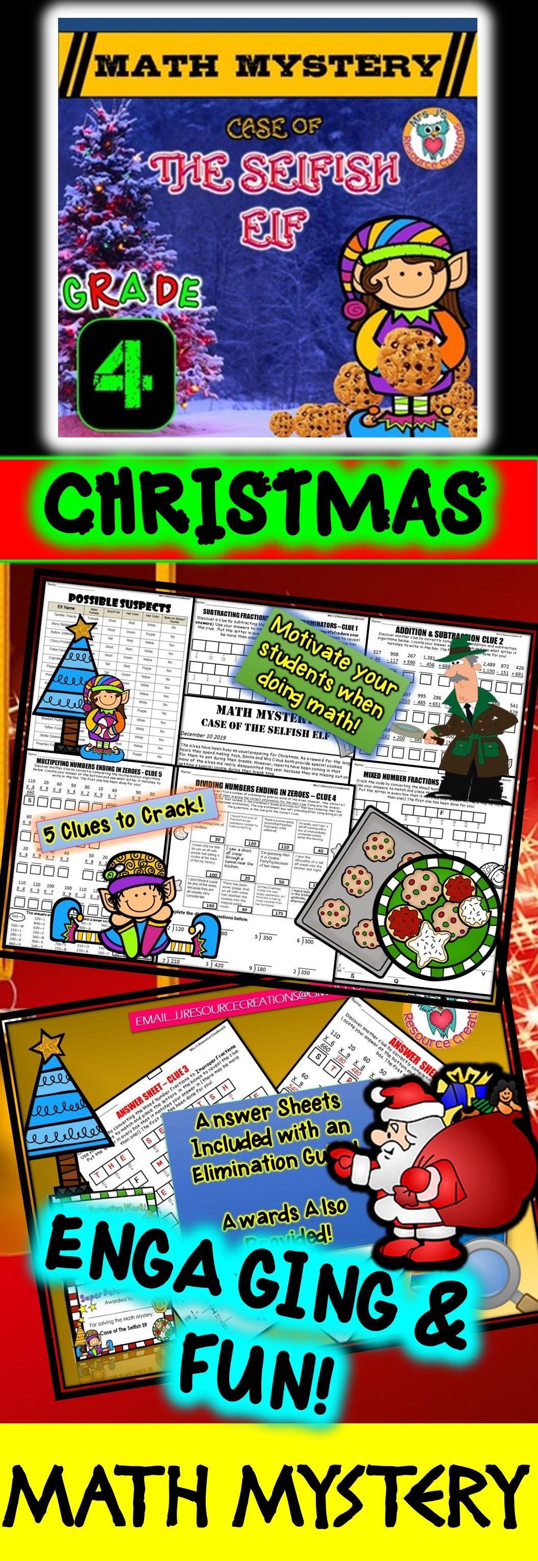 4th Grade Christmas Activity