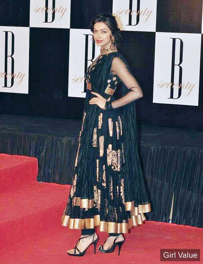 Hot Deepika Padukone in Black Salwar Kameez