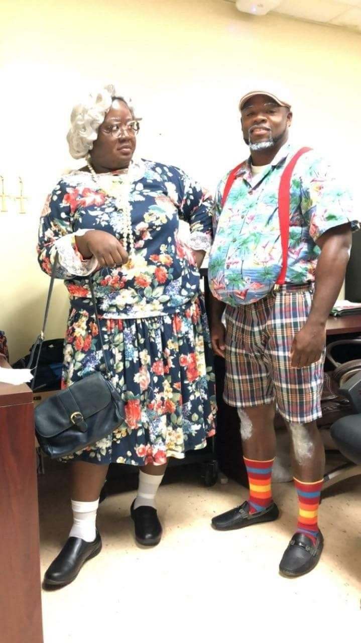 Madea and Mr. Brown costume Spirit week outfits, Madea