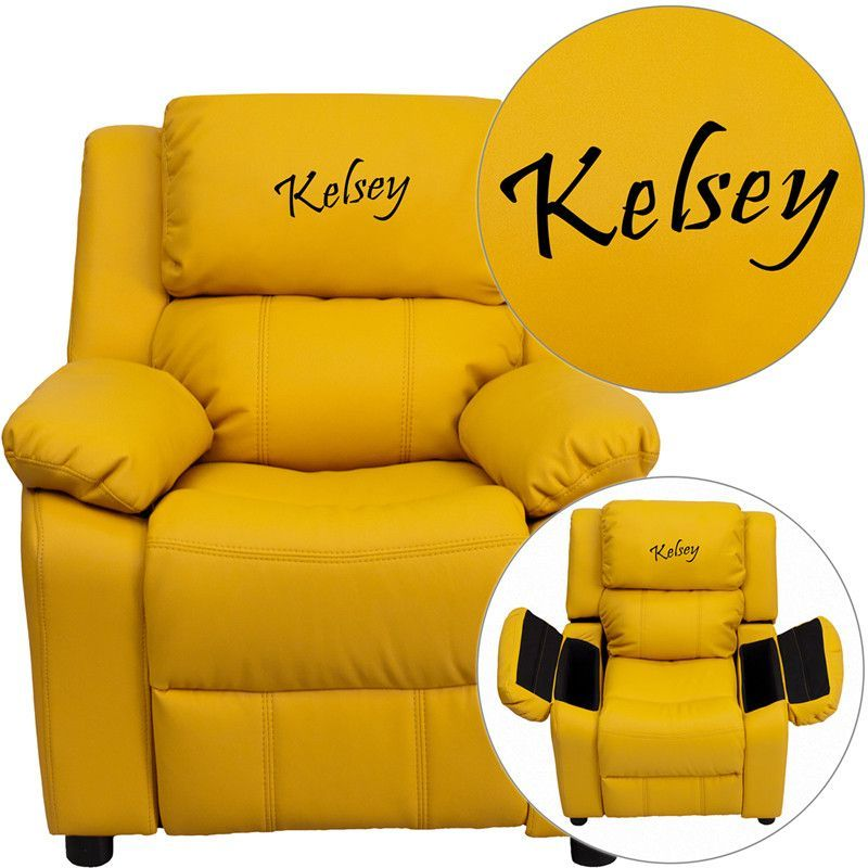 Personalized Yel Kids Recliner