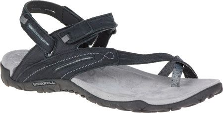 6c82c5dad613 Women s Merrell Terran Convertible II Sandal - Black with FREE Shipping    Exchanges. Breathable mesh-and-leather sandals with a bright pop of color  keep ...
