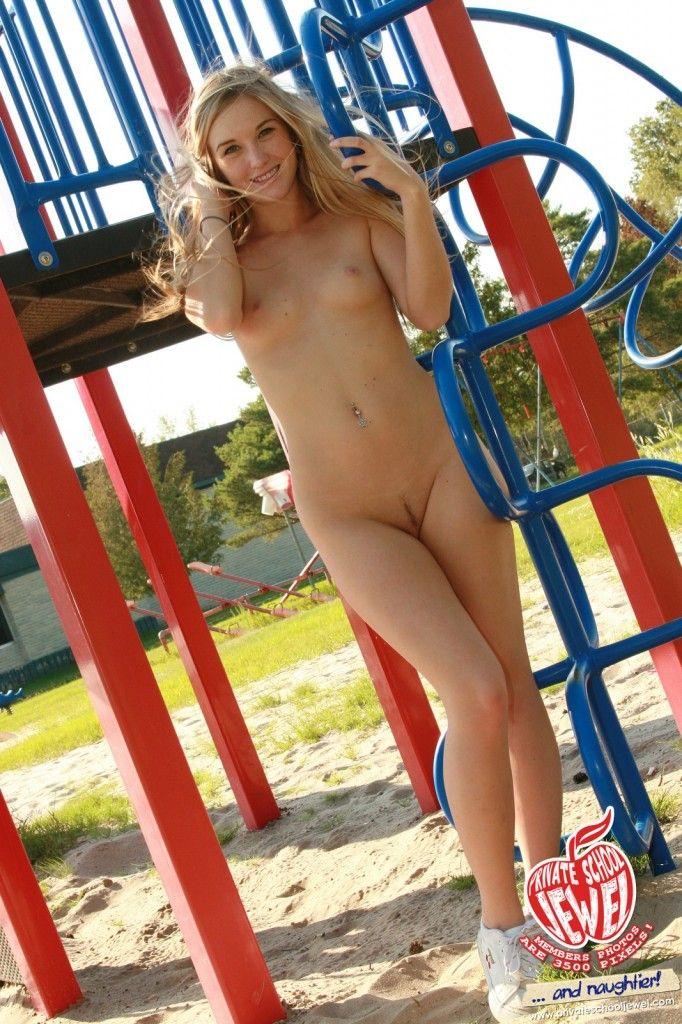 Nude school girl jewel