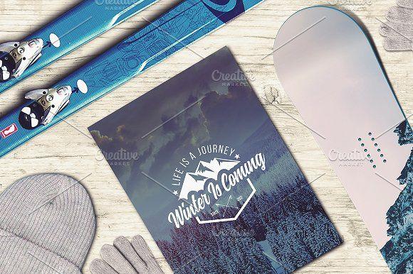 Download Winter Sport Mock Up 2 Mockup Design Photoshop Logo Mockup