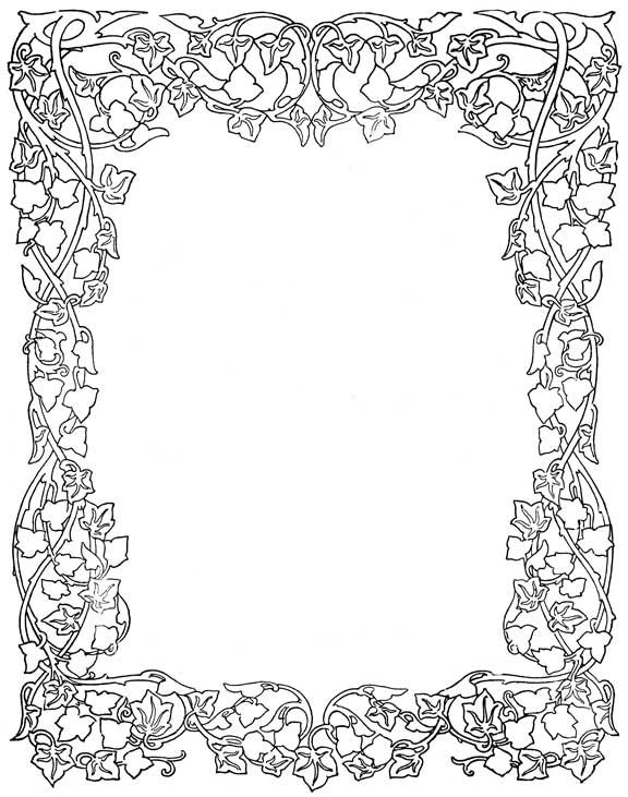 flower borders lineart pinterest coloring pages page borders and adult coloring pages