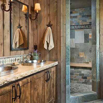 Simple Rustic Master Bath Cabin Living Rustic Bathrooms In 2019 - Simple-master-bathroom