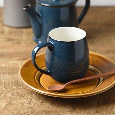 シュプレム スカンジナビアンブルー マグカップ 丸型 コーヒーの香りをカップの中に包み込む形状のマグカップ コーヒーをより美味しく味わうと共に カップの内側の空間に満ちた リッチで濃厚なアロマを楽しむことができます コロンとまぁるい手に馴染む可愛いカタチ