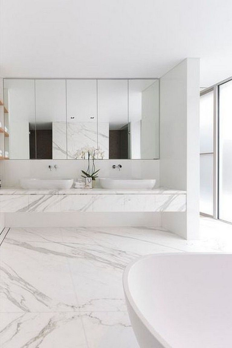 20 Gorgeous White Bathroom Vanity Ideas For Luxury Home Decor Bathroom Design Inspiration Bathroom Design Luxury White Bathroom Designs