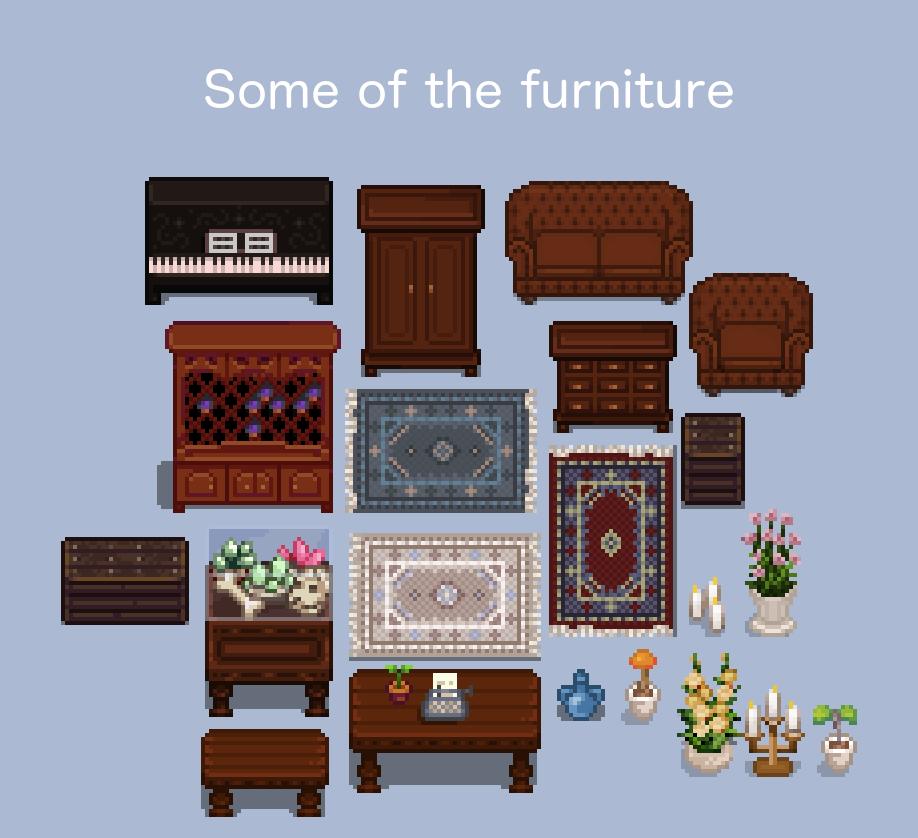 Classy New Interior Stardew Valley Pixel Art Pixel Art Characters