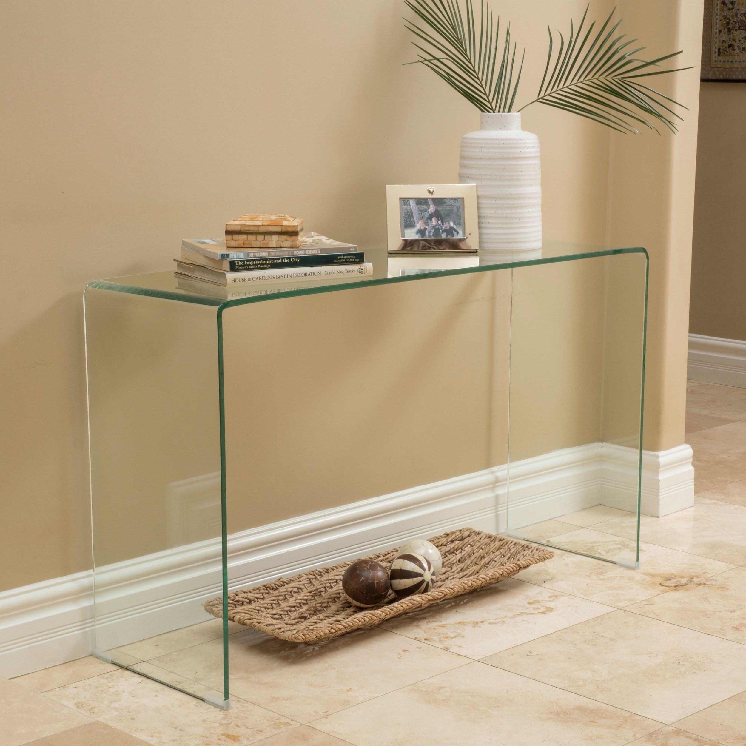 Features Includes 1 Console table Materials Glass and