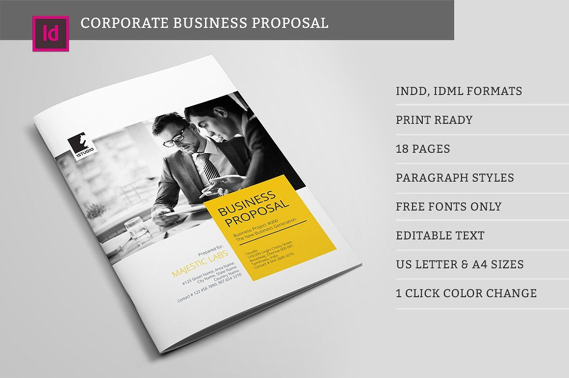 cool Corpo Business Proposal #1STUDIO #agency #brand #brochure ...
