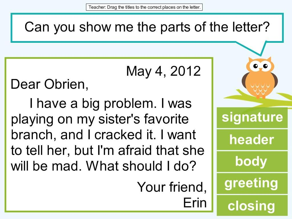 2nd grade friendly letter lesson