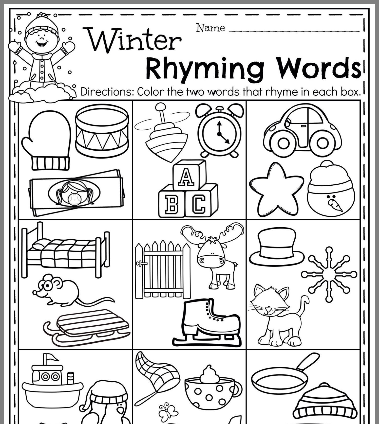 Pin By C Piper On Rhyming Activities With Images