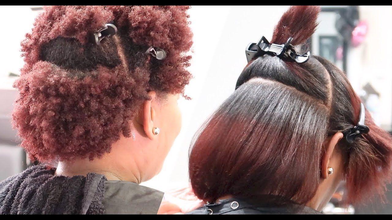 Silk Press On 4z Natural Hair Lol Salonwork Youtube Natural Hair Styles Pressed Natural Hair Silk Press Natural Hair