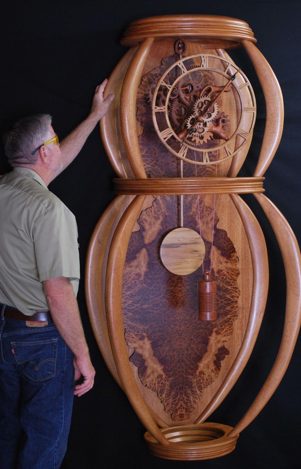 Gary Johnson S Handmade Wood Clocks Wooden Gear Clock