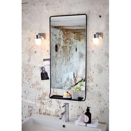 Badspiegel, kleine Ablage, Industrial-Look, Metall Vorderansicht ...