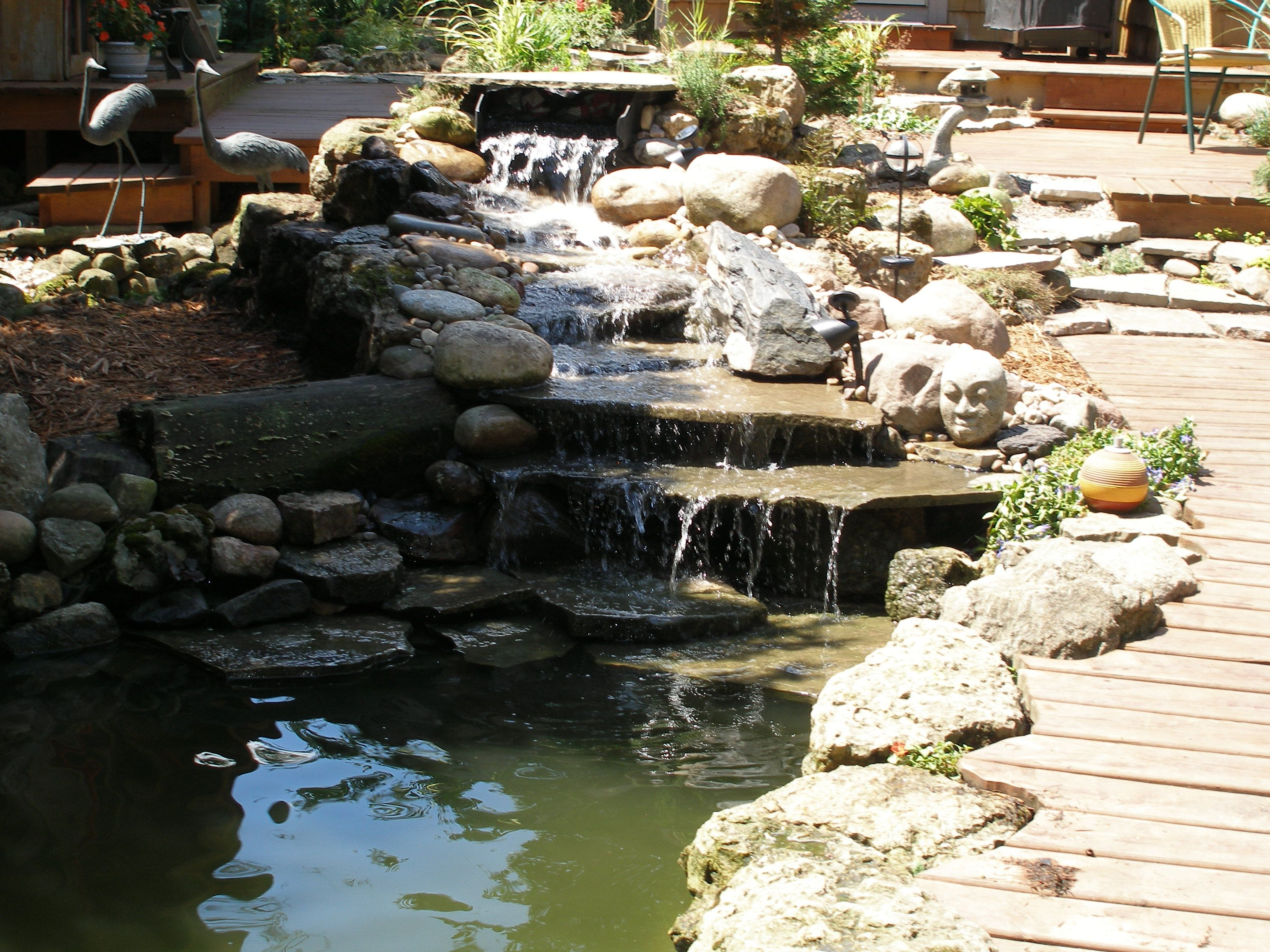 DIY waterfall | Garden waterfall, Diy waterfall, Waterfall