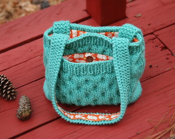 Charming Quick Knit Pocketed Purse Bees Knees Bag Pattern Bees