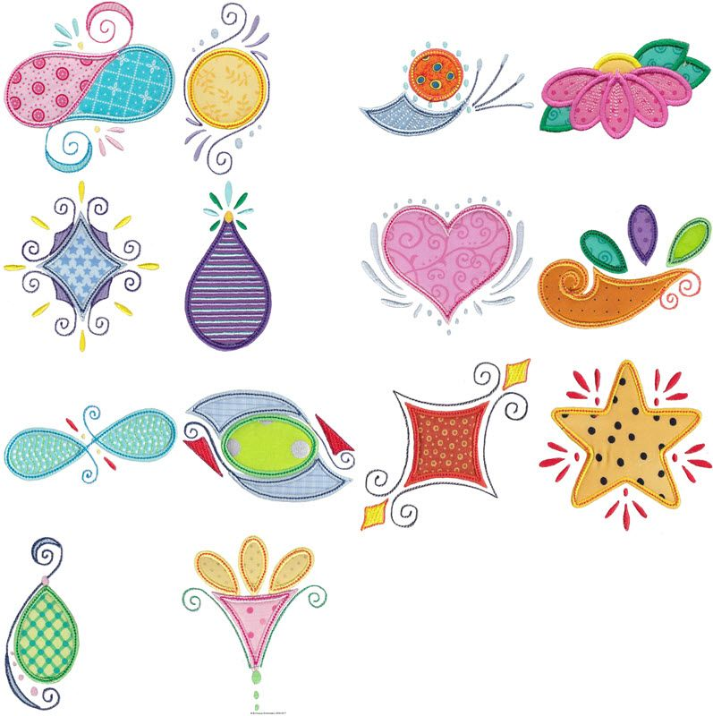 Doodles Applique Machine Embroidery Designs At Bunnycup Embroidery