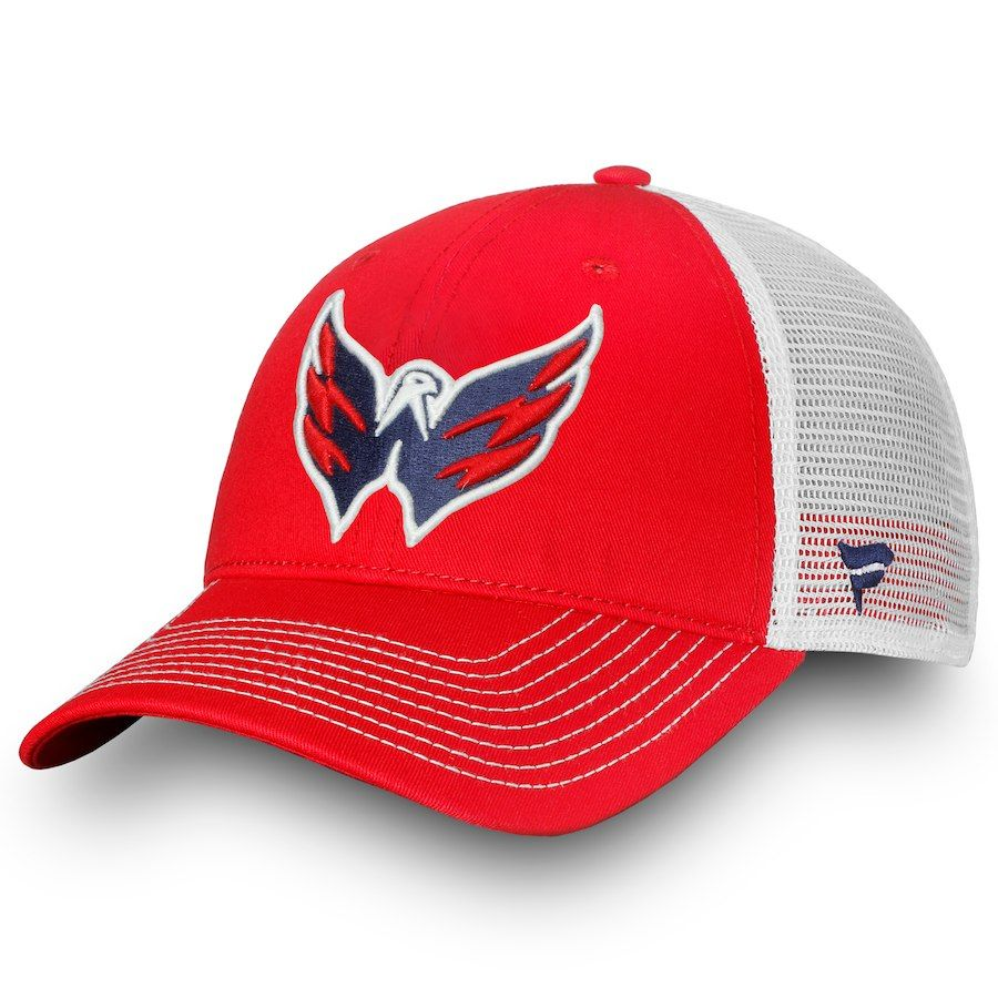 new product 697c4 f02d3 ... where to buy mens washington capitals fanatics branded red core trucker  ii snapback adjustable hat your