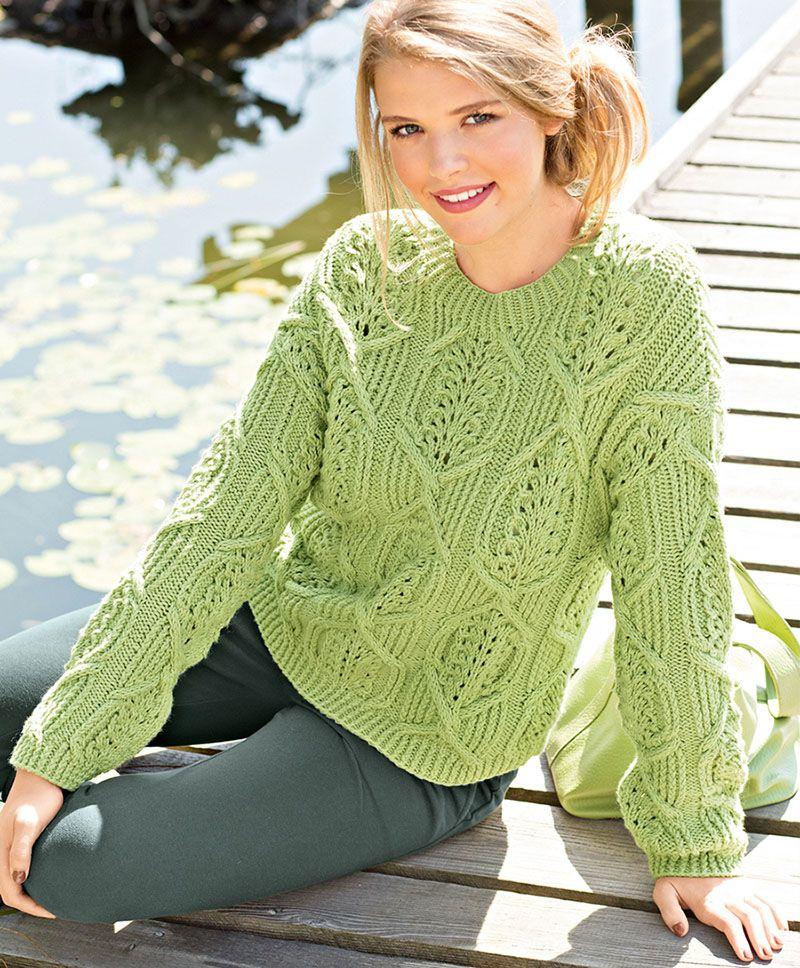 Encantador Señoras Aran Patrón Suéter Tejer Colección - Manta de ...