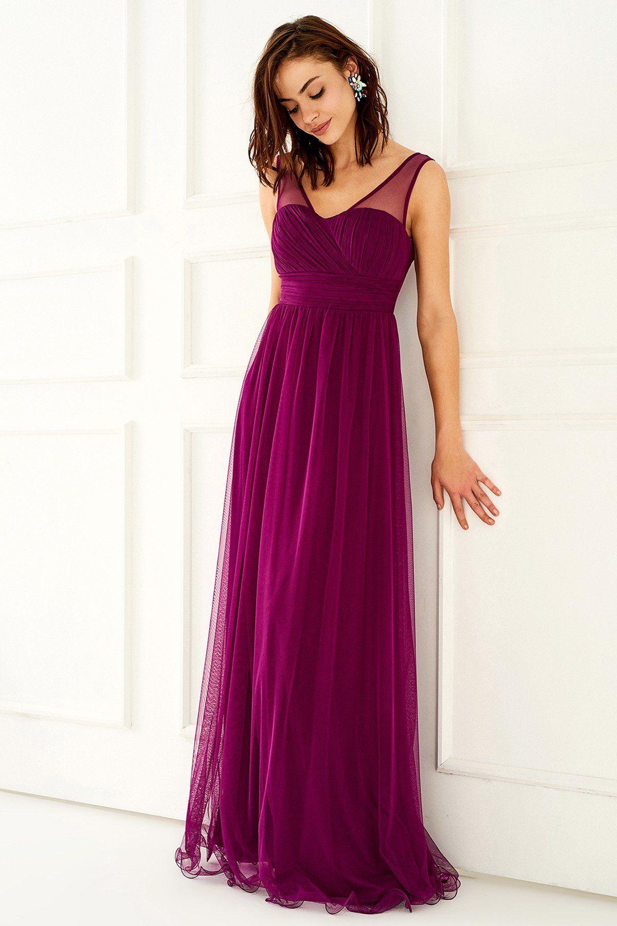Tul Detayli Mor Elbise Mlwss16be0475 Trendyolmilla Trendyol The Dress Elbise Kadin