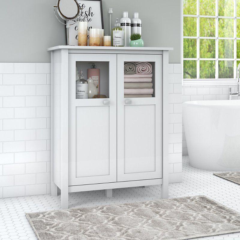 White Bathroom Storage Cabinet