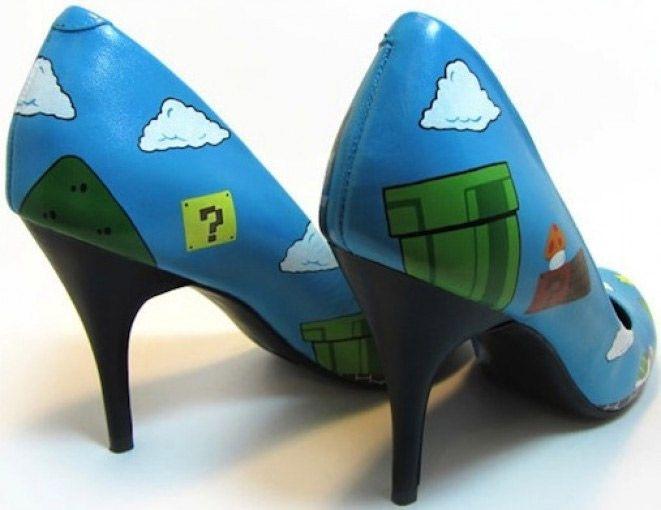 Les escarpins Super Mario Bros - Geek c8da7c28b595
