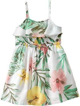 Ruffled Floral-Print Sundresses for Baby | Old Navy