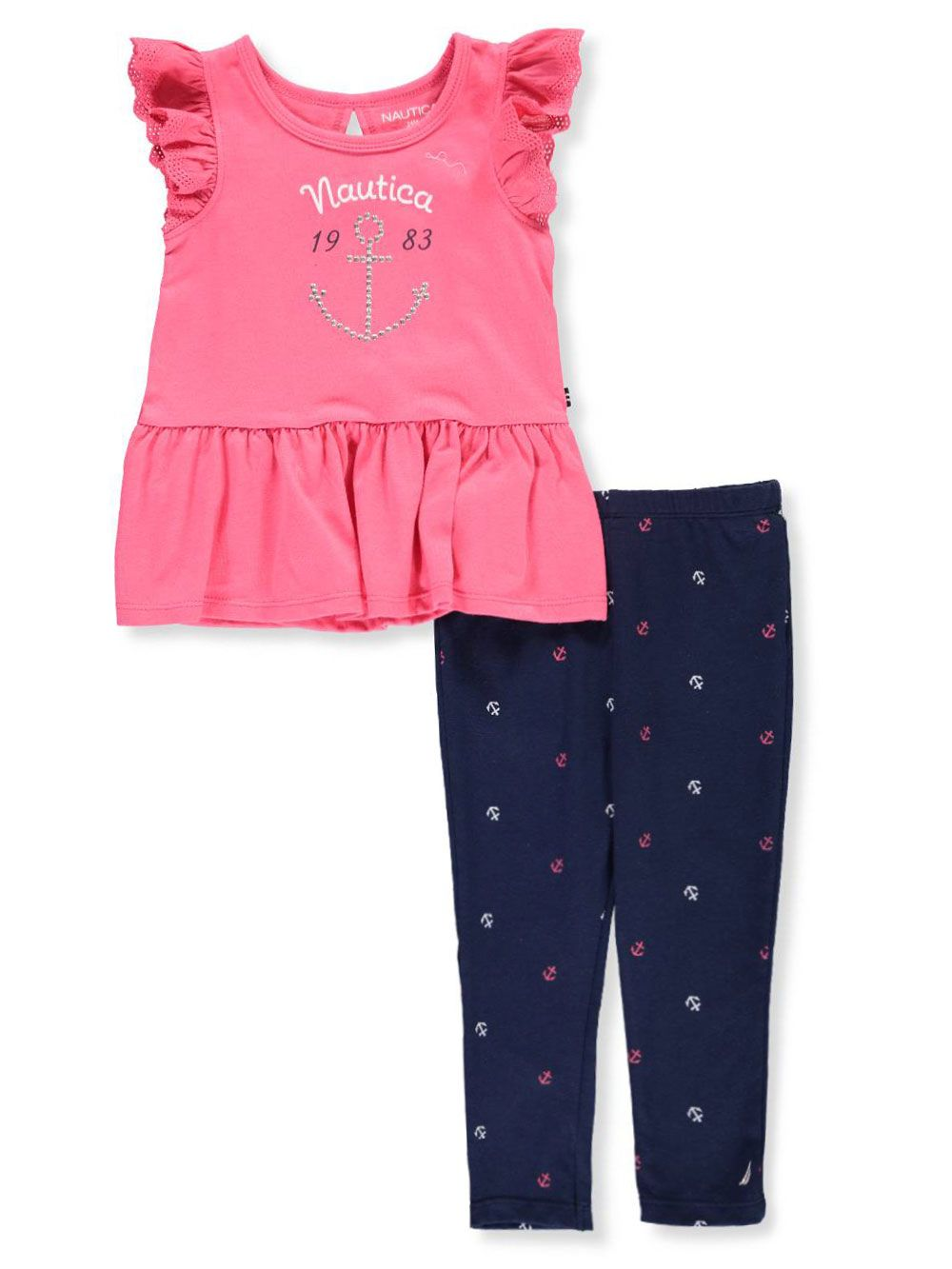 b1c86bd46a26a Nautica Baby Girls' 2-Piece Leggings Set Outfit | Girls Clothes ...