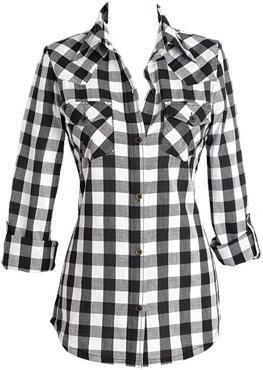 Vestido camisao feminino xadrez