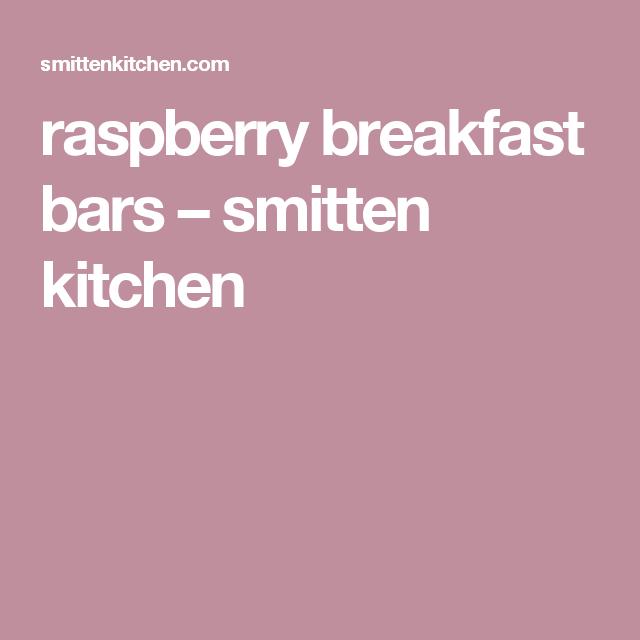 Raspberry Breakfast Bars U2013 Smitten Kitchen