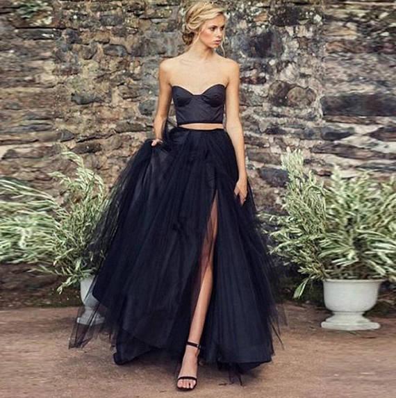 9d73dde12e993 Rush order - Floor length Tulle Skirt with slit, high slit, Extra ...