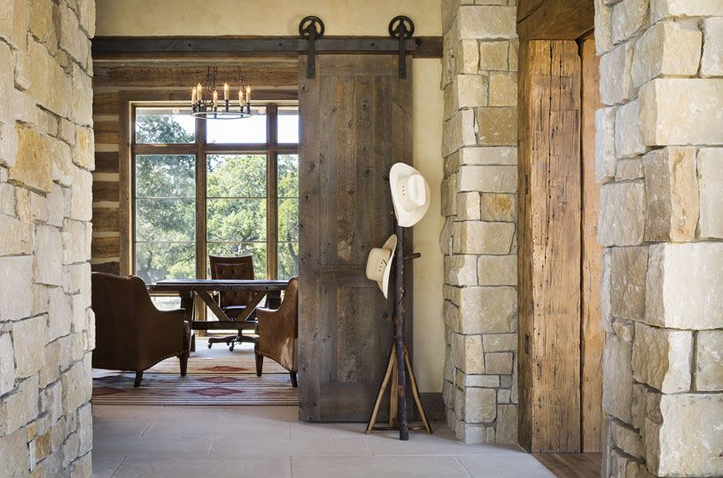 contemporary home office sliding barn. Llano Ranch - Rustic Home Office Austin Cornerstone Architects Contemporary Sliding Barn